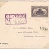 10c gray violet Hardships of Emigration single on cover
