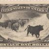 $1 black Western Cattle in Storm single