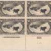 $1 black Western Cattle in Storm block of four