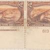 $2 orange brown Mississippi River Bridge pair