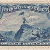 5c dull blue John Charles Fremont on the Rocky Mountains single