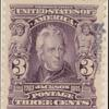 3c bright violet Jackson specimen single