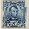 5c blue Lincoln specimen single