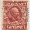 6c claret Garfield specimen single