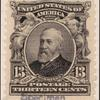 13c purple black Benjamin Harrison specimen single