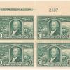 1c green Robert Livingston block of four