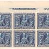 5c blue Pocahontas block of six