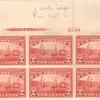 2c carmine Hudson-Fulton Celebration block of six