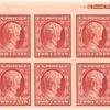 2c carmine Lincoln Centenary of Birth block of fourteen