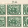 1c green Vasco Nunez de Balboa block of six