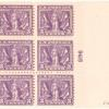 3c red violet Victory of the Allies in World War I block of six