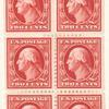 2c carmine Washington booklet pane of six