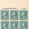 13c blue green Washington block of six