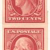 2c carmine Washington vertical strip of four