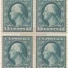 13c blue green Washington block of four