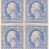 15c pale ultramarine Washington block of four