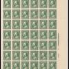 1c green Franklin sheet of sixty