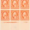 6c red orange Washington block of six