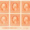 6c red orange Washington block of six
