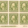 8c olive green Washington block of six