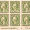 8c olive green Washington block of six