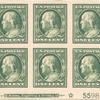 1c green Franklin block of six