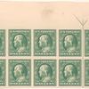 1c green Franklin block of ten