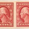 2c carmine Washington strip of six