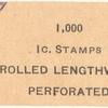 1910-11 1c Coil Stamp WrapperCoil Stamp wrapper