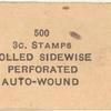 1911 3c Coil Stamp Wrapper