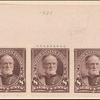 8c violet brown Sherman horizontal strip of three