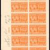 15c deep orange Motorcycle Delivery block of twenty