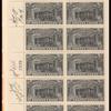20c black Post Office Truck block of twenty