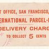 International Parcel Post label