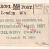 International Parcel Post labels