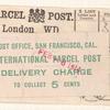 International Parcel Post labels