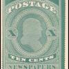 10c blue green Franklin single
