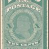 10c blue green Franklin single