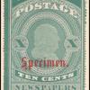 10c blue green Franklin Specimen single