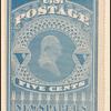 5c dull blue Washington single