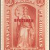 60c red Justice Specimen single