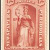 72c red Justice Specimen single