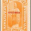 $9 orange Minerva Specimen single