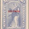 $6 ultramarine Clio Specimen single