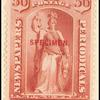 36c red Justice Specimen single