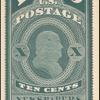 10c dark bluish green Franklin reprint single