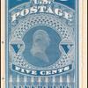 5c dull blue George Washington reprint single