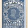 5c blue Washington reprint single