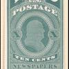 10c green Franklin reprint single