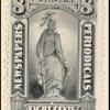 8c gray black Statue of Freedom single